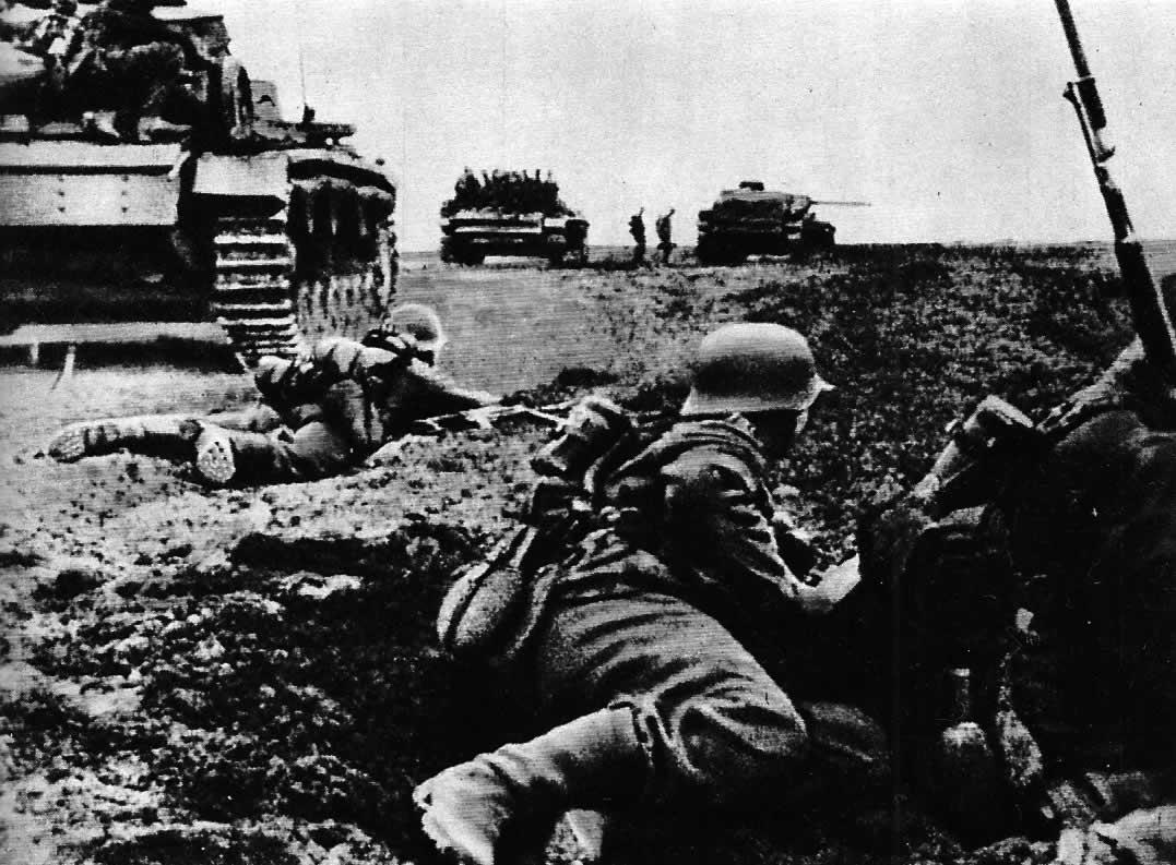 Наступление частей 6 й немецкой армии