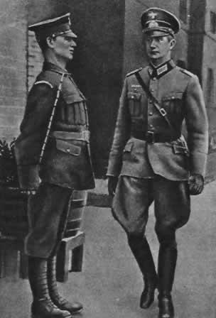 Содействие правительства Англии подготовке вермахта. Немецкий офицер