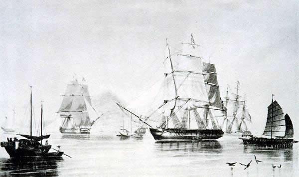 опиумный английский корабль