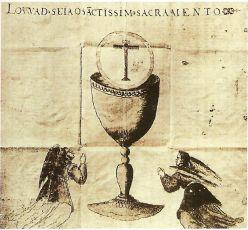 Чаша на флаге японских христиан. XVII в.