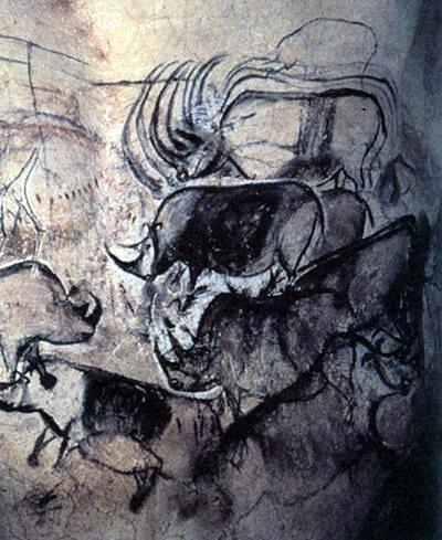Искусство кроманьонцев (наскальный рисунок, найденный на территории современной Франции)