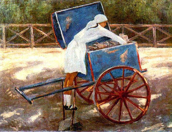 """Н.Чернышов """"Новгородская мороженщица"""", 1928"""
