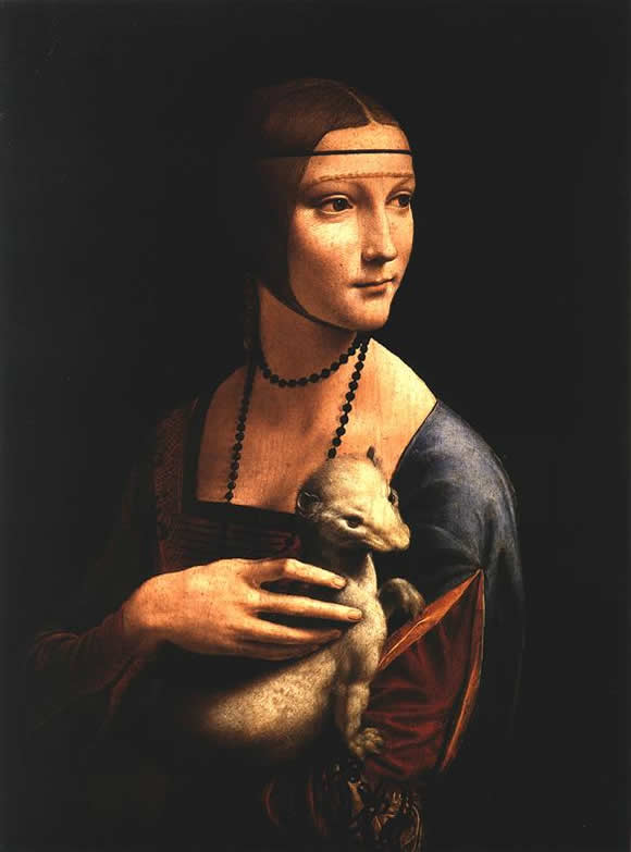 Дама с горностаем Леонардо