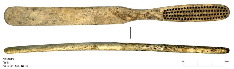 древняя зубная щетка обнаруженная при раскопках в ногороде