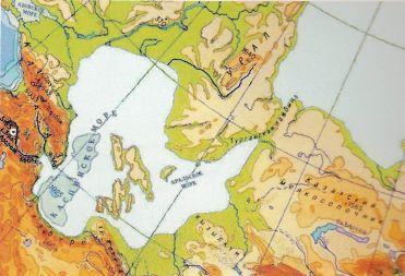 «Каспийский архипелаг». Так могла выглядеть карта прикаспийских территорий, когда уровень моря был выше.