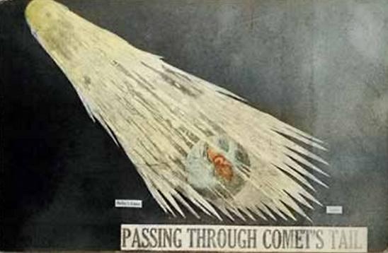 """Прохождение Земли через хвост кометы Галлея"", 1910"