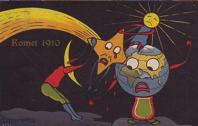комета галлея 1910