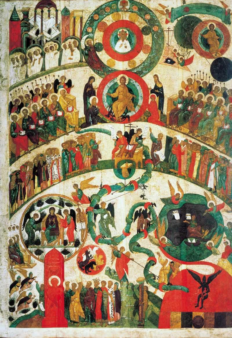 Икона «Страшный суд», Новгород, XV век, Третьяковская галерея