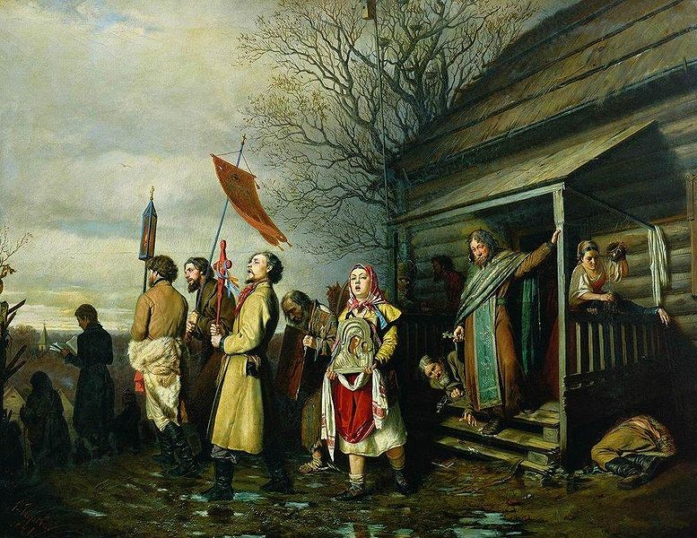 Пасха история традиции ритуалы История России Всемирная  Перов Крестный ход на Пасху
