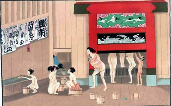 женщины с детьми в бане